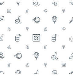 Application icons pattern seamless white vector