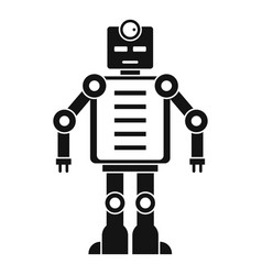 artificial intelligence robot icon simple style vector image