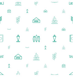 Banner icons pattern seamless white background vector