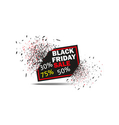 black friday sale with discount banner explosion vector image