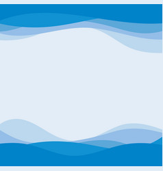 blue wave concept abstract background vector image