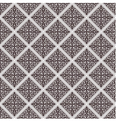Brown abstract damask pattern background vector