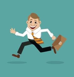 Businessman in a hurry to meet vector