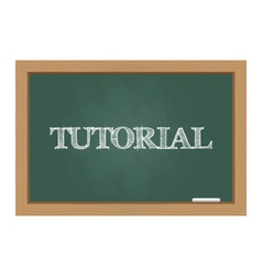 Chalkboard tutorial vector