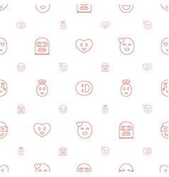 Character icons pattern seamless white background vector