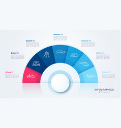 circle chart design modern template vector image