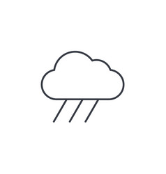 cloud rain weather thin line icon linear vector image