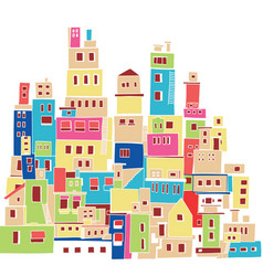 Color hindu urban architectural style vector