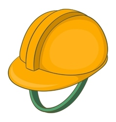 Construction helmet icon cartoon style vector