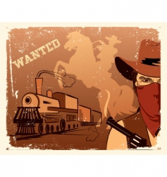 Cowboy western vector