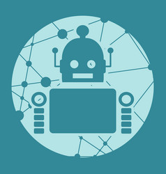 cute abstrat robot vector image