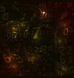 Digital code background vector