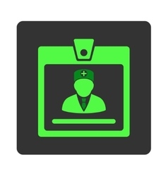 Doctor Badge Flat Button vector