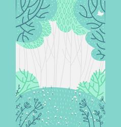 doolde deep forest background nature landscape vector image