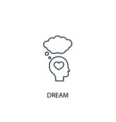 Dream concept line icon simple element vector