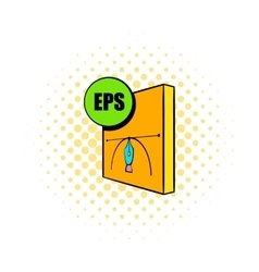 EPS file icon comics style vector