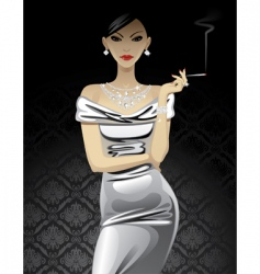 fashion woman vector image