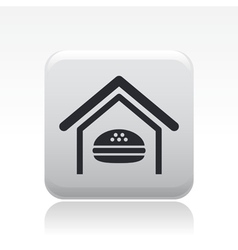 Fastfood icon vector