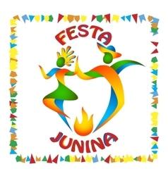 Festa Junina dancers man and woman vector