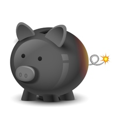Financial bomb vector
