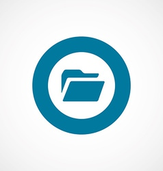 folder bold blue border circle icon vector image
