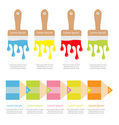 four five step timeline infographic template set vector image