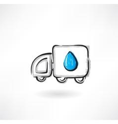 fuel car grunge icon vector image