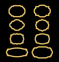 Gold frames simple golden style vector