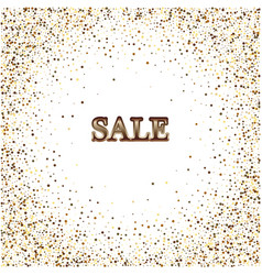 gold sparkles on white background golden club vector image