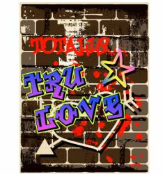 Graffiti wall graphic vector