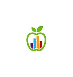 graph fruit logo icon design vector image