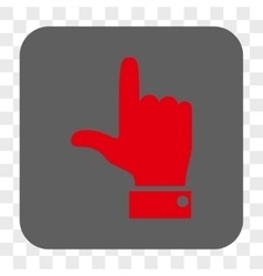 Hand Pointer Up Rounded Square Button vector