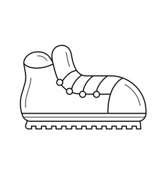 hiking boots line icon vector image
