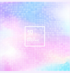 Holographic background with mosaic texture vector