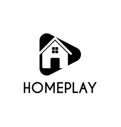home play studio logo design template black color vector image