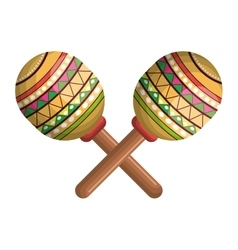 Icon maraca mexico music graphic vector