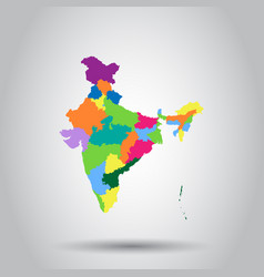 India map icon business cartography concept india vector