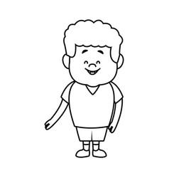 Little boy cartoon character cute kid standing vector