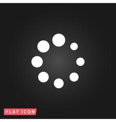 Loading flat icon vector