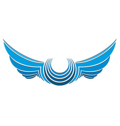 Logo stylized wings vector