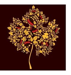 Maple doodle leaf vector image vector image