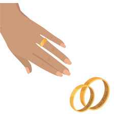 marriage proposal or engagement concept vector image