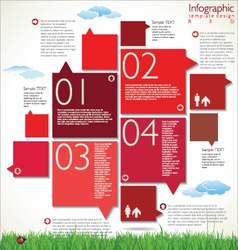 Modern red design template vector image