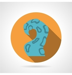 One tentacle color icon vector