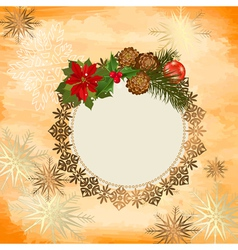 ornamental christmas frame vector image
