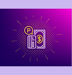 Parking payment line icon paid car park sign vector