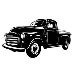 Pickup 1949 muscle car classic car stencil vector