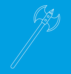 Poleaxe icon outline style vector