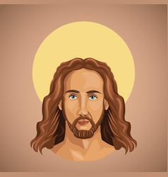 portrait jesus christ spirituality vector image