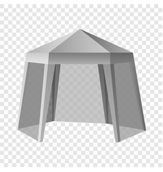 Promotional outdoor tent mockup realistic style vector